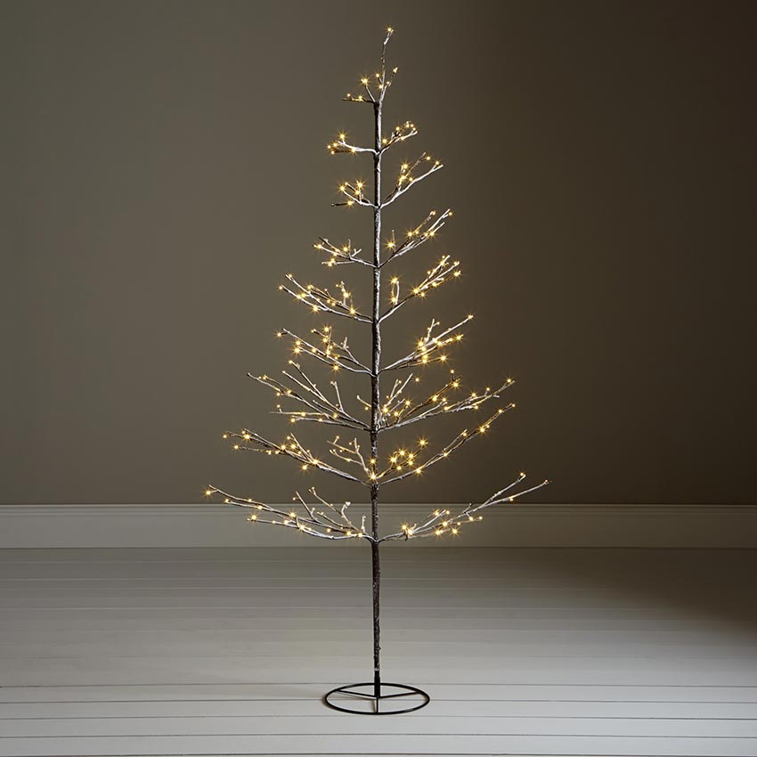 John Lewis 6Ft Pre-Lit Snowy Twig 240 LED Indoor/Outdoor Christmas ...