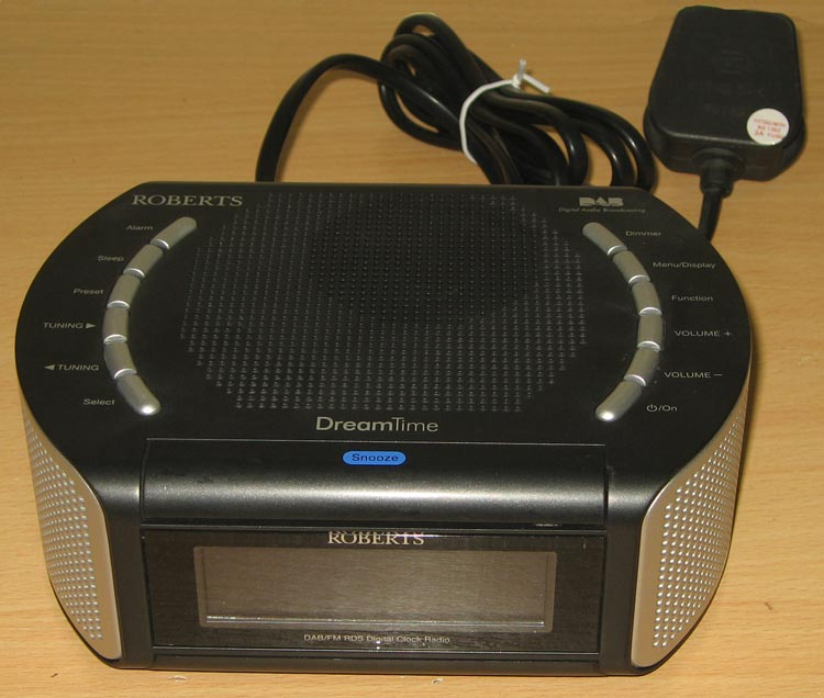 roberts dreamtime dab fm rds digital clock alarm radio ebay. Black Bedroom Furniture Sets. Home Design Ideas